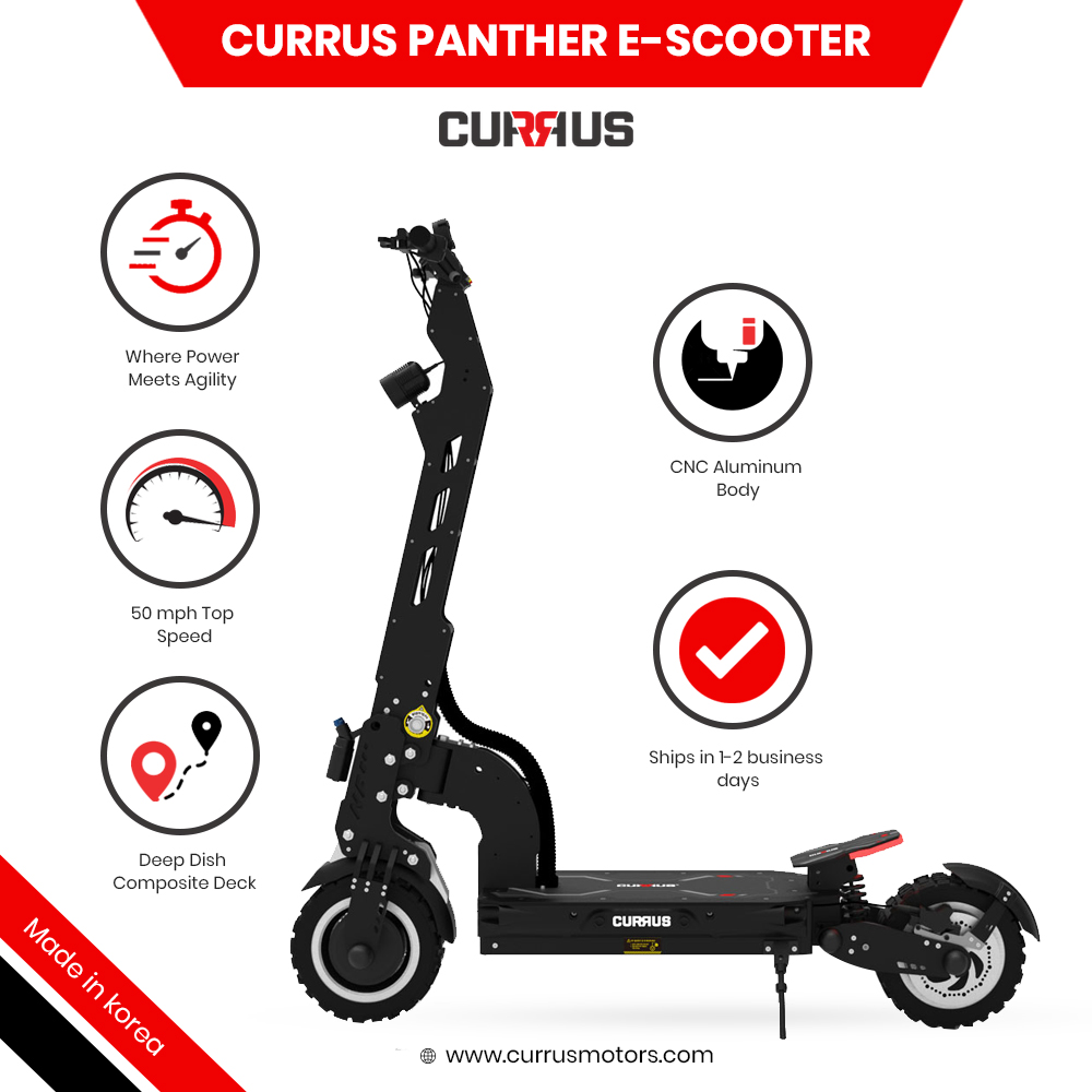 Currus Panther E Scooter Specification.