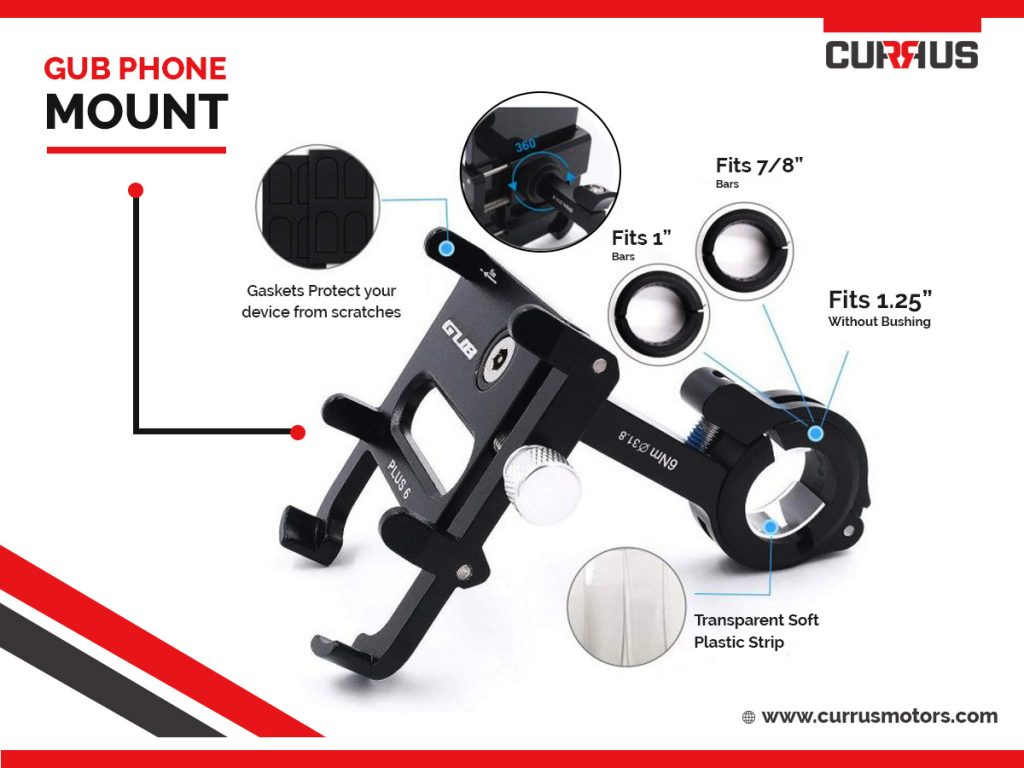 escooter accessory gub phone mount